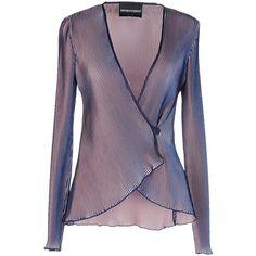 Emporio Armani Blazer (18.215 RUB) ❤ liked on Polyvore featuring outerwear, jackets, blazers, tops, blazer, coats, purple, purple blazer jacket, emporio armani jacket and purple blazer
