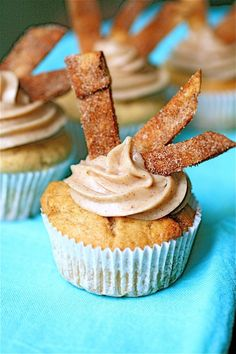 Churro Cupcakes.  Ironic, being a Spanish teacher with a cupcake side-business =)