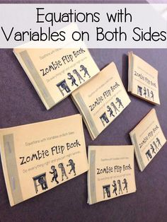 My Grade Math students LOVED this Equations with Variables on Both Sides Zombie Flip Book. It was the the perfect activity to practice solving equations. This is perfect for any time of the year but would be especially fun as a Halloween Math Activi Algebra Activities, Maths Algebra, Math Resources, Math 8, Math Games, Math Multiplication, Educational Activities, Classroom Resources, Math Worksheets