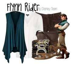 Flynn Rider by disney-teen on Polyvore featuring polyvore fashion style Topshop Office DUBARRY Disney clothing disney disneybound tangled disneyfashion