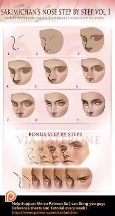 Nose tutorial by sakimichan.deviantart.com on @DeviantArt