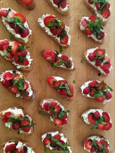 Strawberry Tartines with Ricotta & Basil Oil