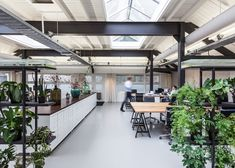 Studio Aa transforms Amsterdam boiler house into contemporary office space Contemporary Stairs, Contemporary Cottage, Contemporary Office, Contemporary Bathrooms, Contemporary Architecture, Contemporary Interior, Contemporary Wallpaper, Contemporary Chandelier, Office Interior Design
