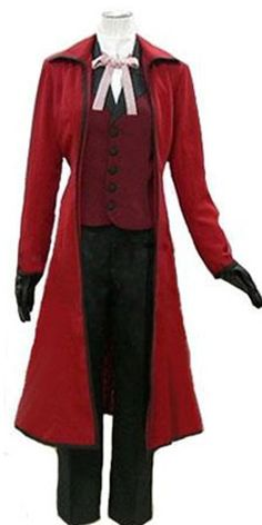 CosEnter Anime Black Butler Death Scythe Grell Sutcliff Cosplay Costume ** Want to know more, click on the image.