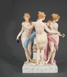 A Meissen Group of the Three Graces, circa 1880