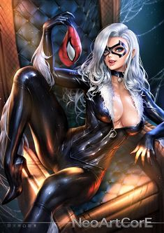 Spiderman et chat noir porno