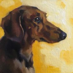 Painting Inspiration, Art Inspo, Dog Artwork, Dachshund Art, Dog Portraits, Pictures To Paint, Fine Art Gallery, Animal Paintings, Cat Art