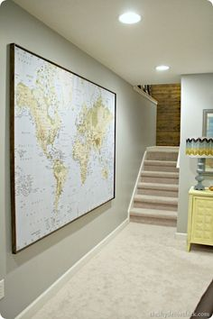 Using a huge map for wall art