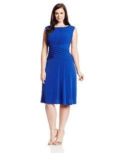 Calvin Klein Women's Plus-Size Sleeveless Cross Front Flare Dress, Atlantis, 22W Calvin Klein http://www.amazon.com/dp/B00JB9K5W4/ref=cm_sw_r_pi_dp_jEQXtb1BM0YHQ8YB
