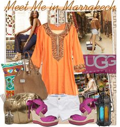 """""""Meet Me in Marrakech with UGG Australia"""" by bratatouille ❤ liked on Polyvore"""