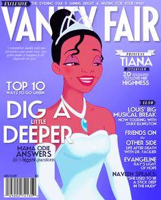 Fã recria capas de revistas famosas com princesas da Disney.