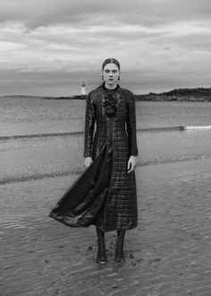 Kim Noorda wearing gothic glam looks stars in ELLE Germany Magazine December 2015 issue Photoshoot