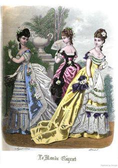 Le Monde Elégant 1874 August