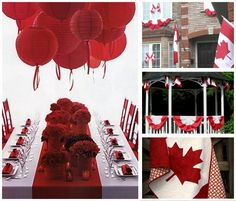 Ideas for hosting Canada Day including decorating tips, fun activities and useful information for all your planning needs. Canada Day Party, Canada Day 150, Happy Canada Day, O Canada, Canadian Party, Canada Holiday, Dinner Themes, Gala Dinner, Picnic Time
