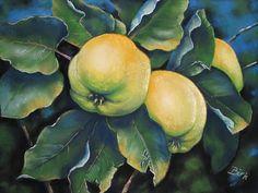"""Kerstin Birk, """"Apfelquitten"""" / 2008  Mit einem Klick auf 'Als Kunstkarte versenden' versenden Sie kostenlos dieses Werk Ihren Freunden und Bekannten."""