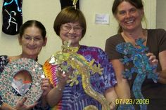 Stained Glass Express for Teachers photo. Teacher Brenda Jolin of Mosaics Are Magical submitted this photo of her Tempered Glass Class. Each student completed their own mosaic!