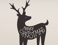 Give this friendly little reindeer a home on your wall over christmas and let him spread the festive love!