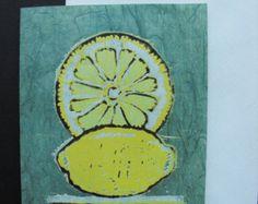 lino prints of fruit - Google Search