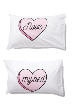 Feel like your bed is a little boring? Need something to help spruce it up? Try this quirky set of pillowcases! <br> Fabrication: 50% Polyester, 50% Cotton <br> Insert not included. <br/>
