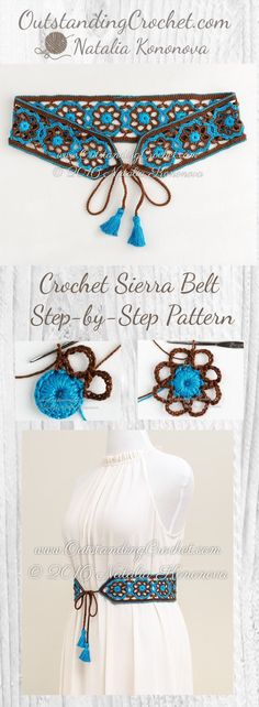 Sierra Belt Step-by-Step Crochet Pattern at www. - Sierra Belt Step-by-Step Crochet Pattern at www.OutstandingCr… Imágenes efectivas que le proporci - Crochet Diy, Art Au Crochet, Crochet Belt, Mode Crochet, Crochet Motifs, Crochet Crafts, Crochet Stitches, Crochet Projects, Boho Crochet Patterns