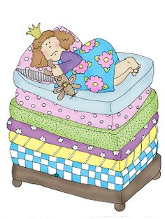 Free Dearie Dolls Digi Stamps: As requested.the Princess and the Pea