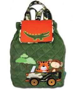 Stephen Joseph Signature Backpack - Safari