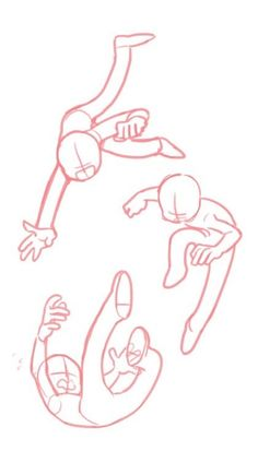 Poses falling , perspective