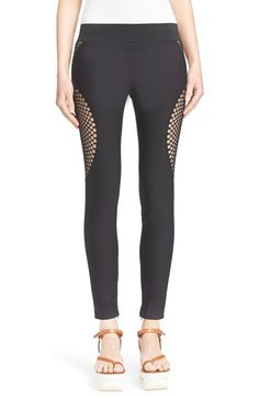 Stella McCartney 'Mirabelle' Embroidered Mesh Leggings available at #Nordstrom