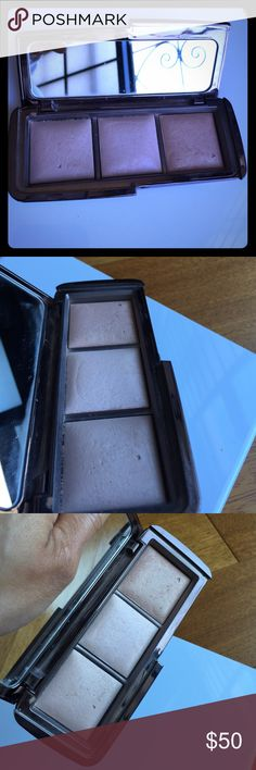 Hourglass Ambient Lighting Palette Lightly used Hourglass ambient lighting palette.  Includes dim light, incandescent light, and radiant light. Used several times but there is so much product that it looks pretty full.  Radiant light shows the most use if anything.  I paid $67 with tax! hourglass Makeup Luminizer