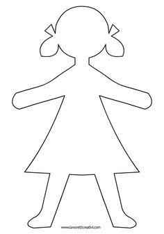 Shape-Girls2, #ShapeGirls2 Body Preschool, Fall Preschool, Preschool Crafts, Felt Crafts, Paper Crafts, Kindergarten Drawing, Paper Doll Template, Friendship Theme, Mermaid Canvas