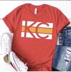 Basketball Shirts, Football Shirts, Softball, Kc Cheifs, Chiefs Shirts, School Spirit Shirts, Spirit Wear, Sailors, Retail Therapy