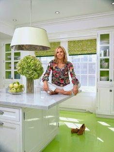 Kitchen Dreams. Tory Burch in her Fifth Avenue apartment in the Pierre Hotel. Kitchen Dreams. Interior Design: Daniel Romualdez.