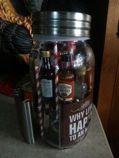 Bar in a jar - raffle off at wedding shower for honeymoon money for couple
