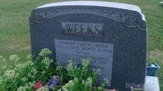 Headstone image of Howard Samuel Weeks