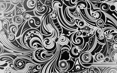 Black and white swirls wallpaper - Digital Art wallpapers - #24139
