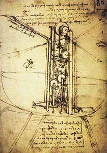 Vertical Ornitottero by Leonardo da Vinci