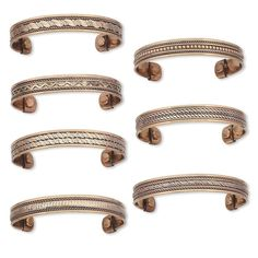 Wholesale Jewelry Lot 7 Handcrafted India Copper Magnetic Therapy Cuff Bracelets