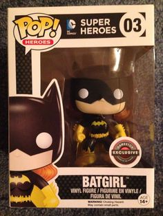 Batgirl (Classic Black) Pop! Heroes « Game Stop Exclusive