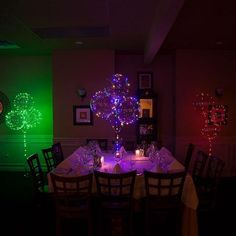 18 Inch Transparent Balloons with 118 Inch Multi LED Lights - Wedding and Party Decor - LED Balloons