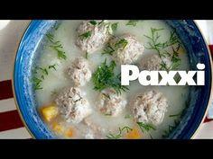 Γιουβαρλάκια αυγολέμονο: Η απόλυτη σούπα του χειμώνα - Paxxi E62 - YouTube Greek Recipes, Cheeseburger Chowder, Main Dishes, Oatmeal, Soup, Chicken, Meat, Breakfast, Gastronomia