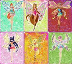 Winx Club Enchantix: Bloom, Flora, Aisha, Musa, Stella e Tecna. Cartoon Network, Winx Magic, Les Winx, Flora Winx, Bloom Winx Club, Kids Shows, Princesas Disney, Magical Girl, Geek Stuff