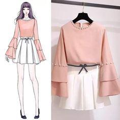 New Fashion Inspiration Design Clothes Haute Couture Ideas Kawaii Fashion, Cute Fashion, Look Fashion, Trendy Fashion, Korean Fashion, Girl Fashion, Fashion Art, Paper Fashion, Classy Fashion