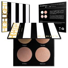 Ultra Pigmented Highlighting Kit - Glow Series Highlighter Makeup Palette Set - Includes 4 Illuminating Powders (2nd Collection) >>> Startling review available here  : Makeup palette