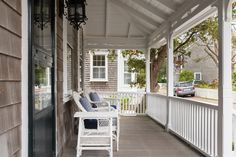 A front porch to enjoy the cool Nantucket  evenings