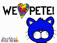 My sweet little thinkers will do ANYTHING to hear a Pete the Cat book! In an effort to aide their interests AKA bribe them to do non-preferred tasks, I decided celebrate him this week in our tub tasks