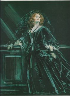 Amalia at the tomb of her father. This image of Dame Joan was used as the cover of the   recording of  I Masnadieri.  Michael Stennett