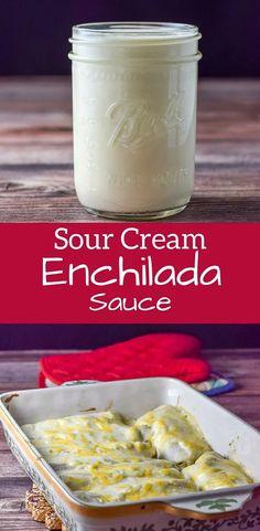 Mexican White Sauce, Mexican Sour Cream, Make Sour Cream, Homemade Sour Cream, Sour Cream Chicken, Sour Cream Sauce, Recipes With Sour Cream, White Sauce Recipes, Recipes With Enchilada Sauce
