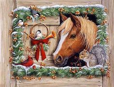 horse christmas picture | ... Christmas Desktop Wallpapers: Horse Desktop Wallpapers For Christmas