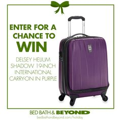 For the ultimate jet-setter! Enter now for a chance to win it. (NO PURCHASE NECESSARY TO ENTER OR WIN. Ends 12/18/13)
