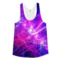 This tank is ultra soft and lightweight, and the racerback cut gives it a sporty feel. • 100% Polyester Jersey construction • Made in America, sweatshop free